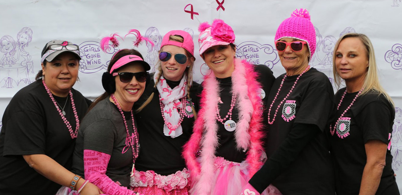 Participants at our Girls Gone Wine 50 Shades of Pink 6kish Walk/Run